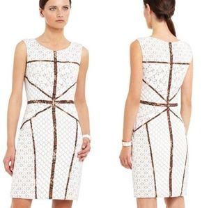 BCBG MaxAzria Andreea lace sheath dress white sz 4